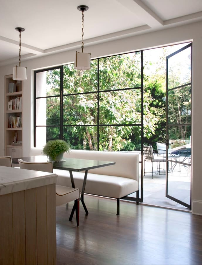 Overview of 10+ Biggest Home Design Trends in 2019 so Far. Aluminium framed black panoramic window