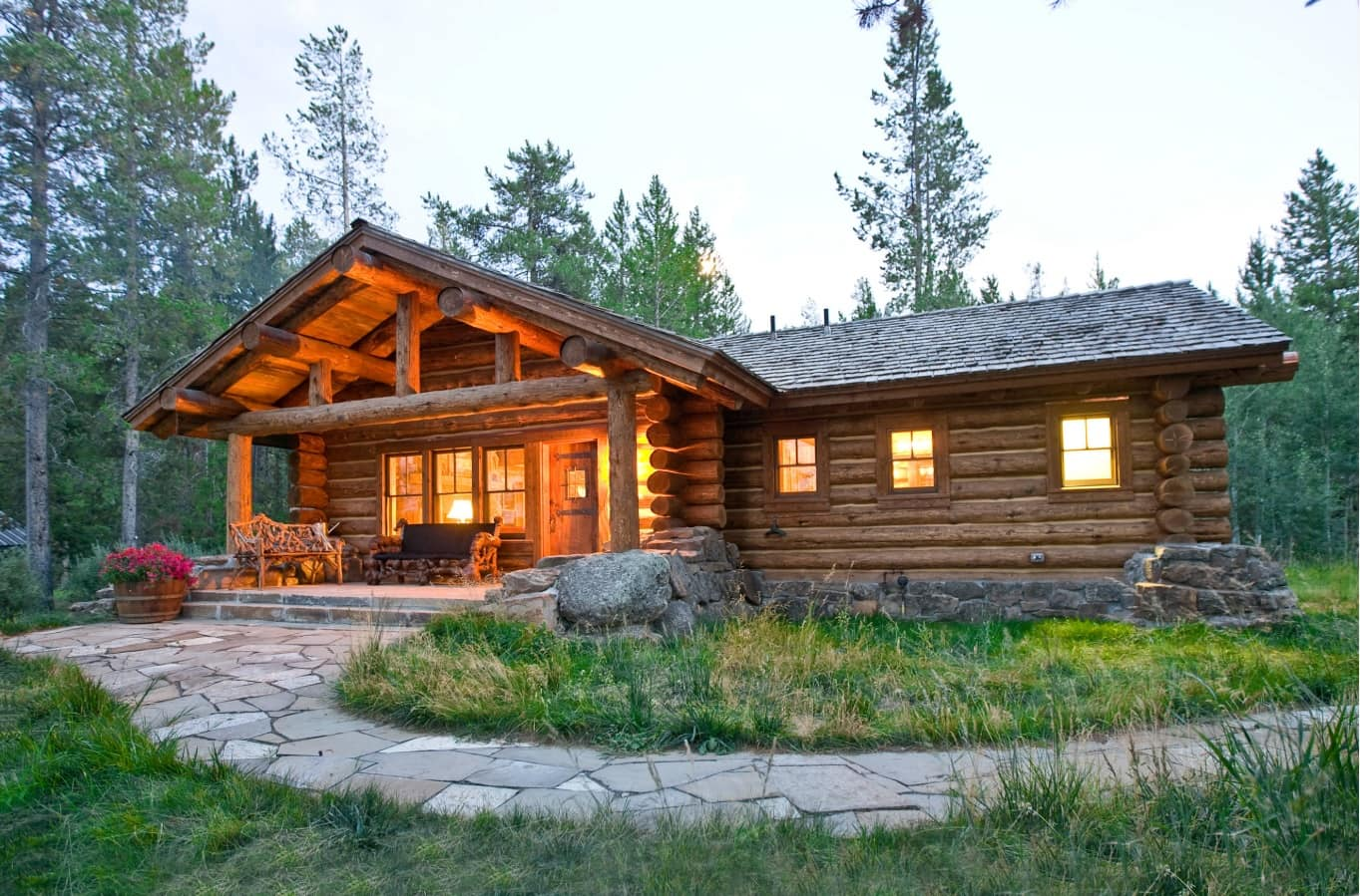 How to Turn Your Home Into a Dream Log Cabin. Eco styled exterior of the house