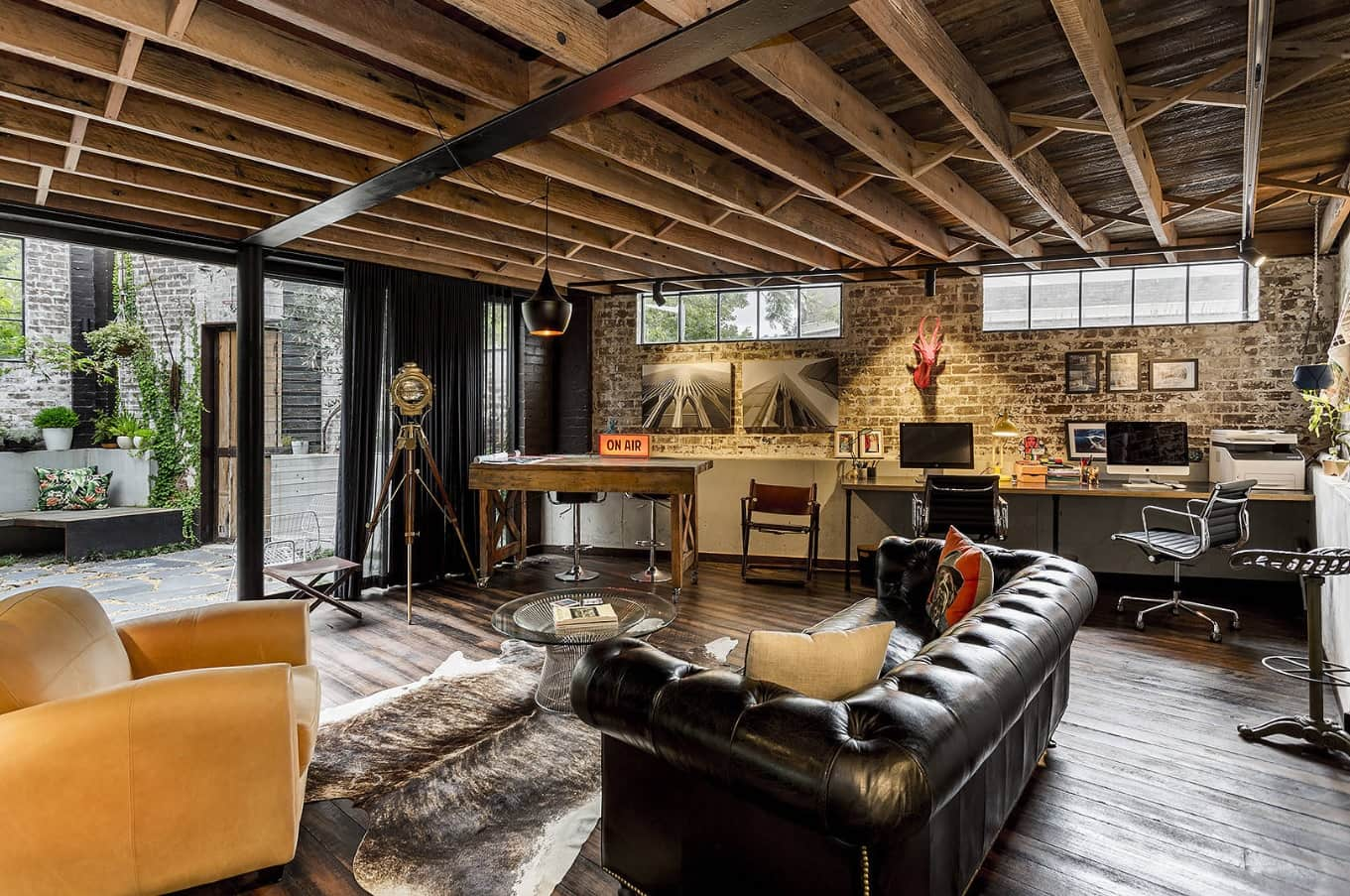The Interior Design Guide For Styling a Gentleman's Elegant Man Cave. Absolutely unrepeatable interior with open grid of the ceiling