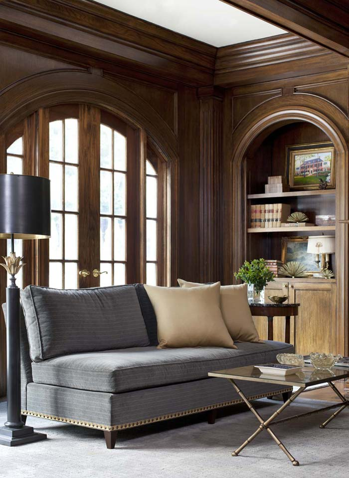 Neoclassical Interior Design Style: Decoration and Frunishing Ideas. Arched sash doors and the businesslike atmosphere