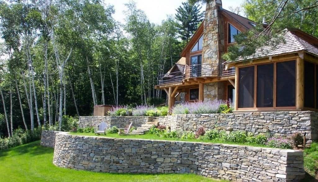 Slope Backyard Design and the Chalet style
