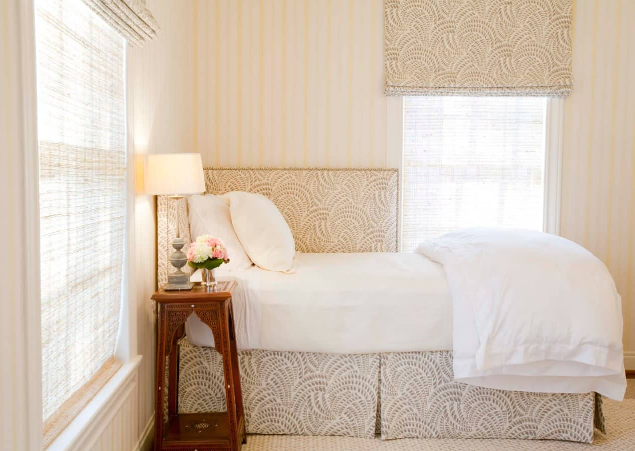 Small Bedroom? No Problem! 10 Room Ideas That Are Big in Style. Brown and whiye color combination of cozy bedroom