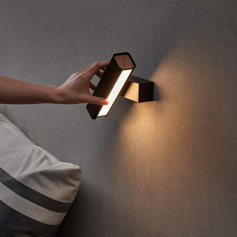 Swiverl modern designed LED sconce at the wall