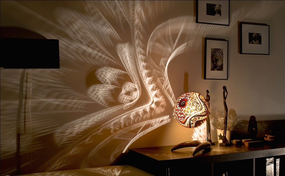 Night Lamps at the Bedroom: Necessary Lighting Fixtures. Shade with pattern to make peculiar shadow on the wall