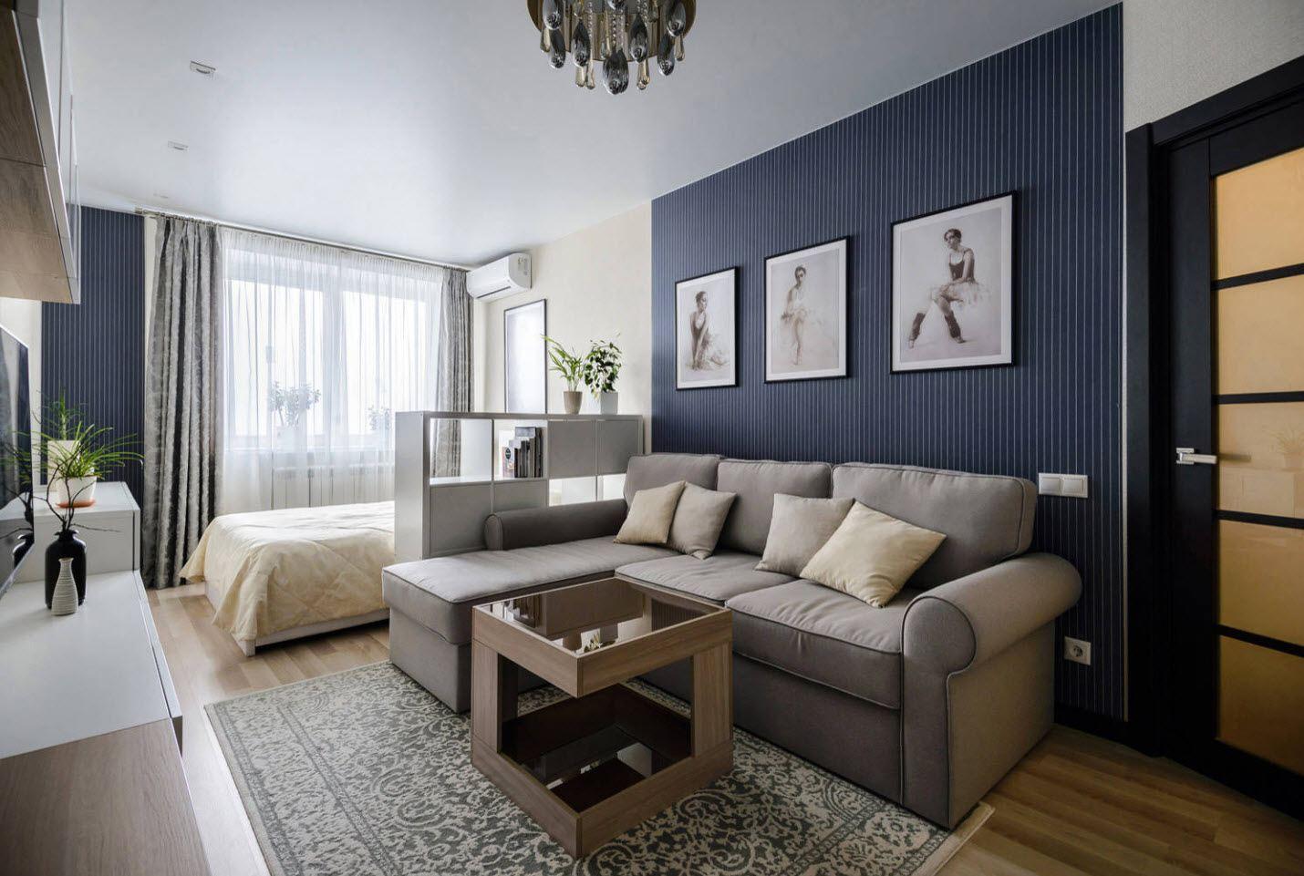 Blue textured wallpaper