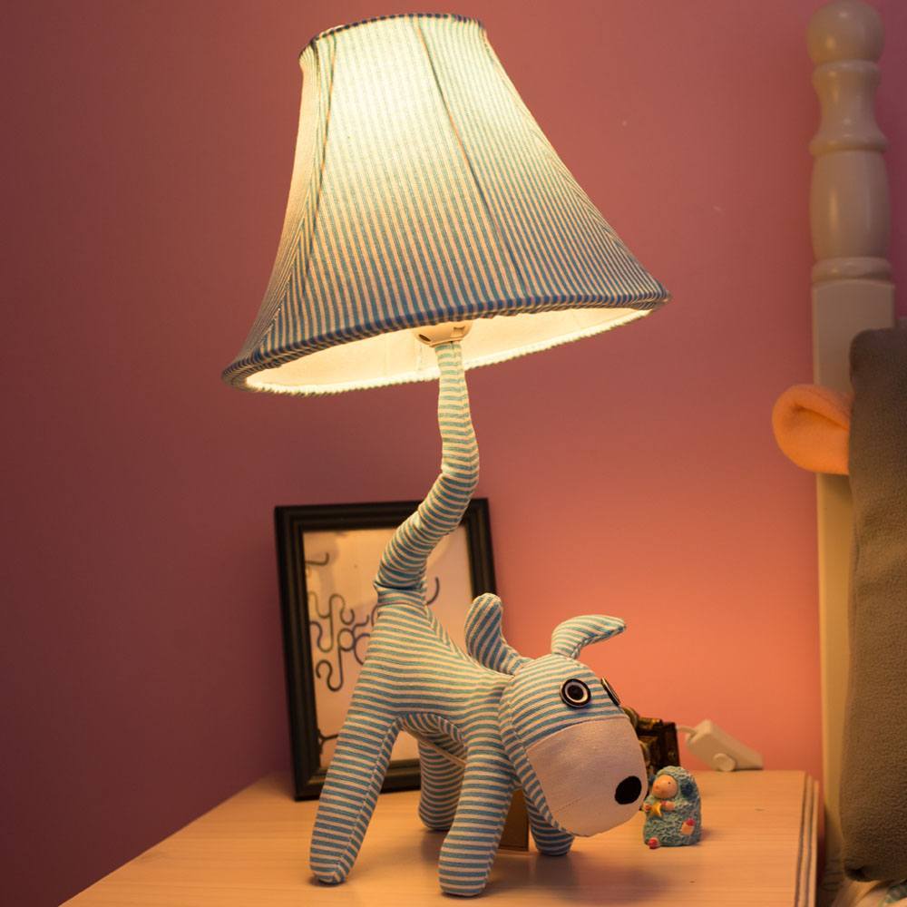 Perky dog figure stand for night lamp