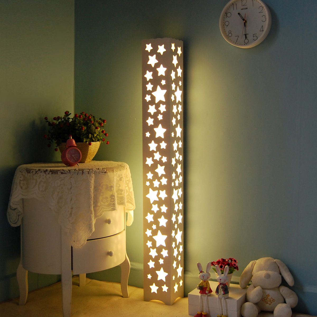 Night Lamps at the Bedroom: Necessary Lighting Fixtures. High lamp with dotted cover
