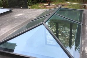 5 Home Design Tips to Improve Airflow. Aluminum construction skylight of the house