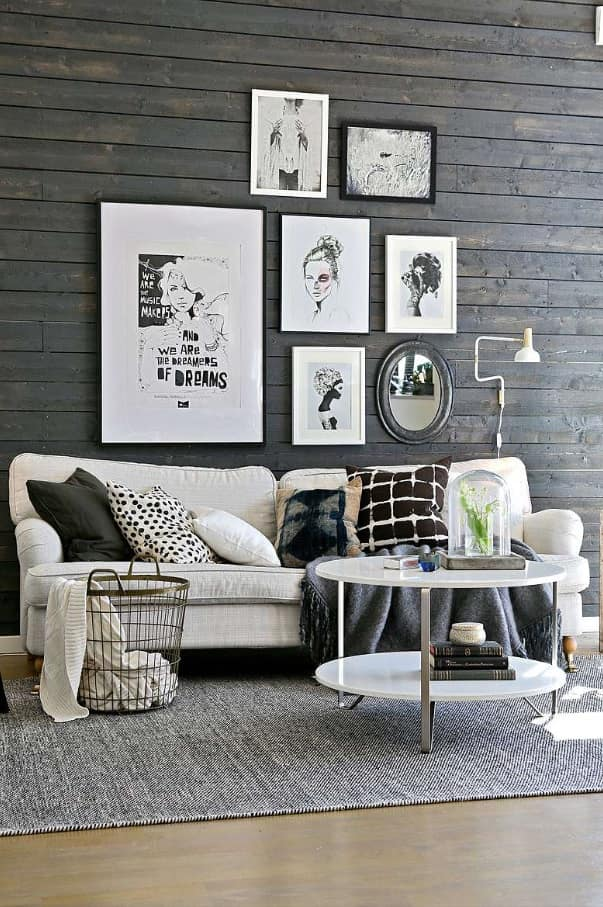 Breaking Stereotypes With Black Accent Wall Living Room Decoration