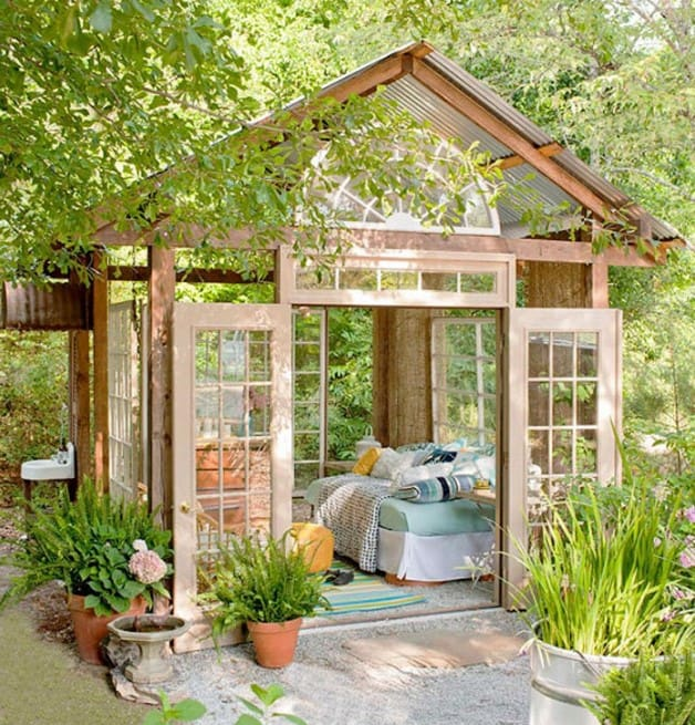Boudoir? She Shed? What is the Analogue for Man Cave for Women? Amazing backyard she shed with fairy tale atmosphere