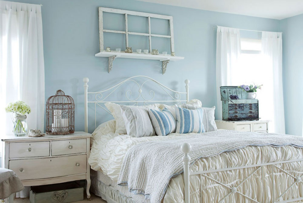 The room in Shabby Chic style is the way to give new life to old things.