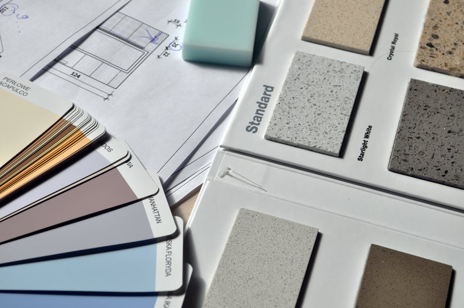 10 Kitchen Renovation Ideas to Help You Sell Your Home ASAP. The project of renovation with material samples