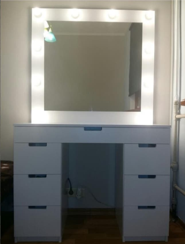 5 Enlightening Benefits of Hanging Lighted Mirrors on your Walls. The dressing table for modern interior in white