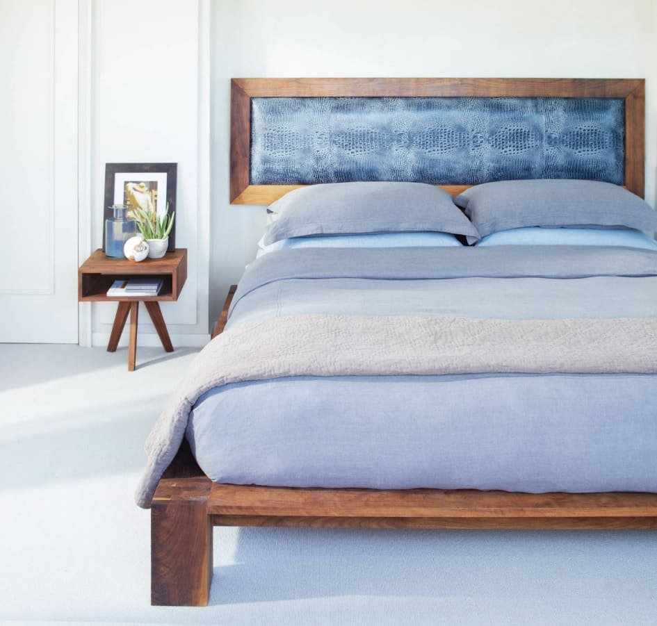 What are the Best Mattresses Suited for Lower Back Pain? Fresh contemporary designed bedroom in cool blye tints