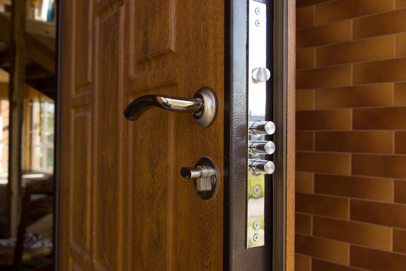 Best Modern Security Upgrades for Your Home. Lock of the door of the house
