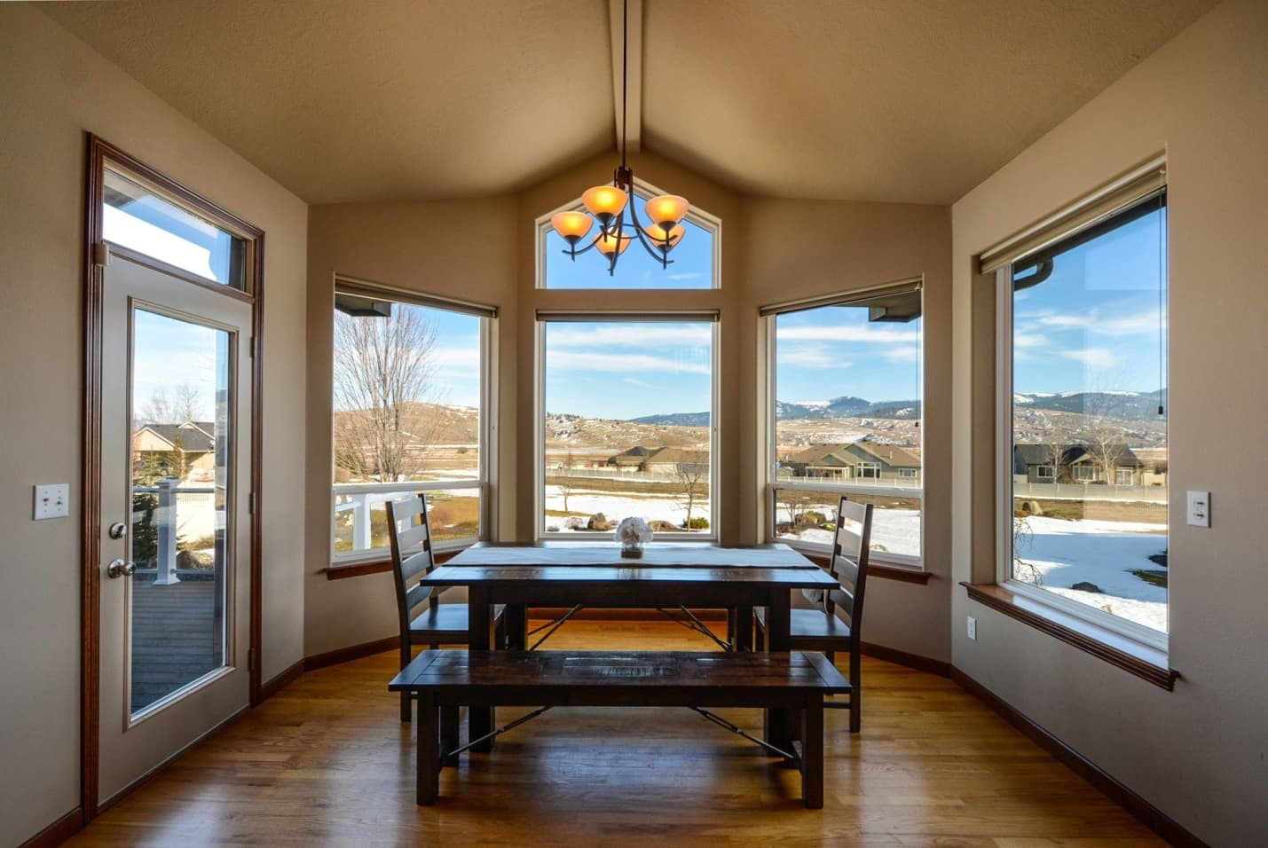 8 Different Types of Windows That Can Boost Your Home's Curb Appeal. Bay window and the dining zone