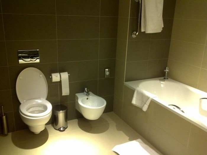 The History of Bidet: Is It Necessary Attribute or a Gimmick? Simple designed bathroom with dark gray tile
