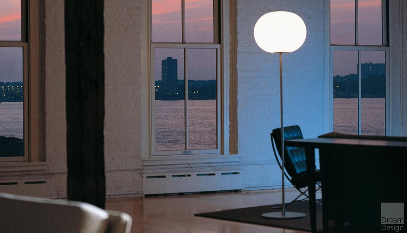 Stylish Lighting for Specific Zones: Floor Lamps Overview. Casual seaside apartment with restrained decoration and black furniture