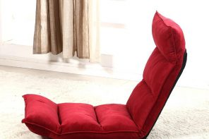 Red floor chais lounge for light styled interior of the living