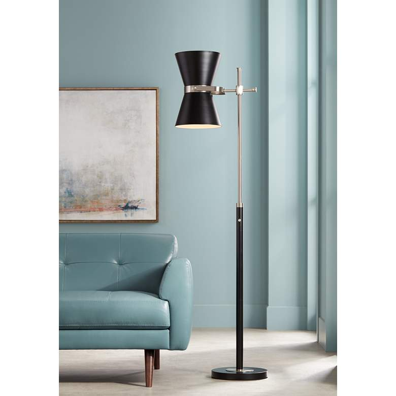 Yet another great unrepeatable floor lamp design in black and gold colors