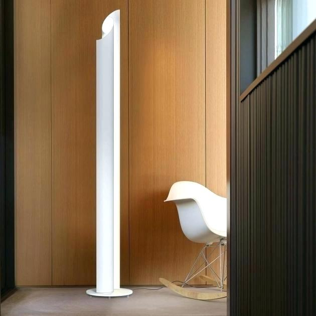 Stylish Lighting for Specific Zones: Floor Lamps Overview. Modern hall design with white lamp and rocking chair