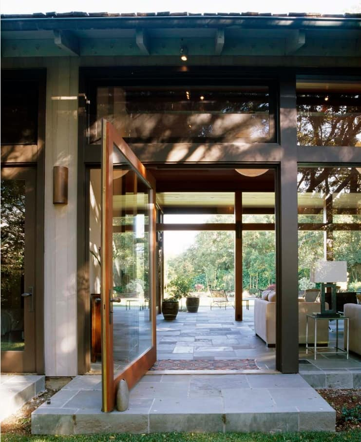 How to Make Your New Home Extremely Energy Efficient. Glass Large swing door for modern cottage