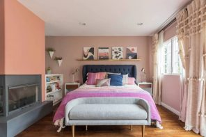 What to Know Before Remodeling Your Master Bedroom. Colorful budget room with peach colored walls in casual style