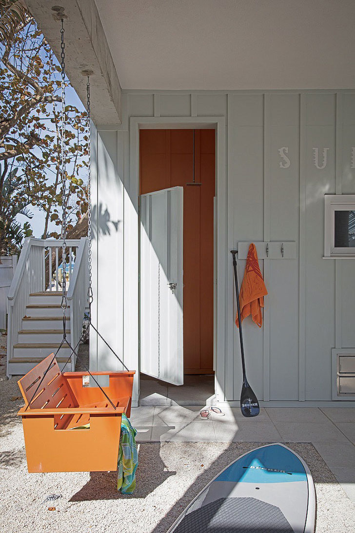 Stunning Photo Compilation of Small Beach House Designs that Inspire. Cute entrance of the small wooden sheathed cottage