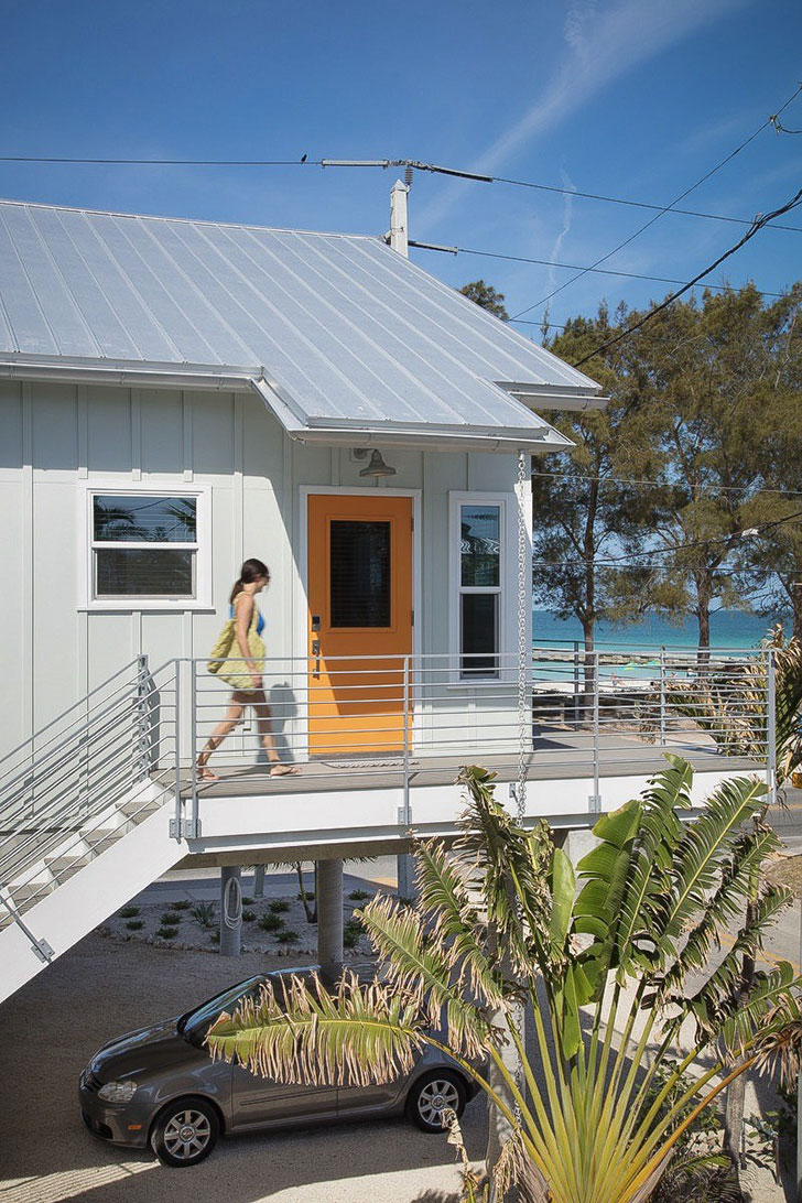 Stunning Photo Compilation of Small Beach House Designs that Inspire. The outside door to the second level