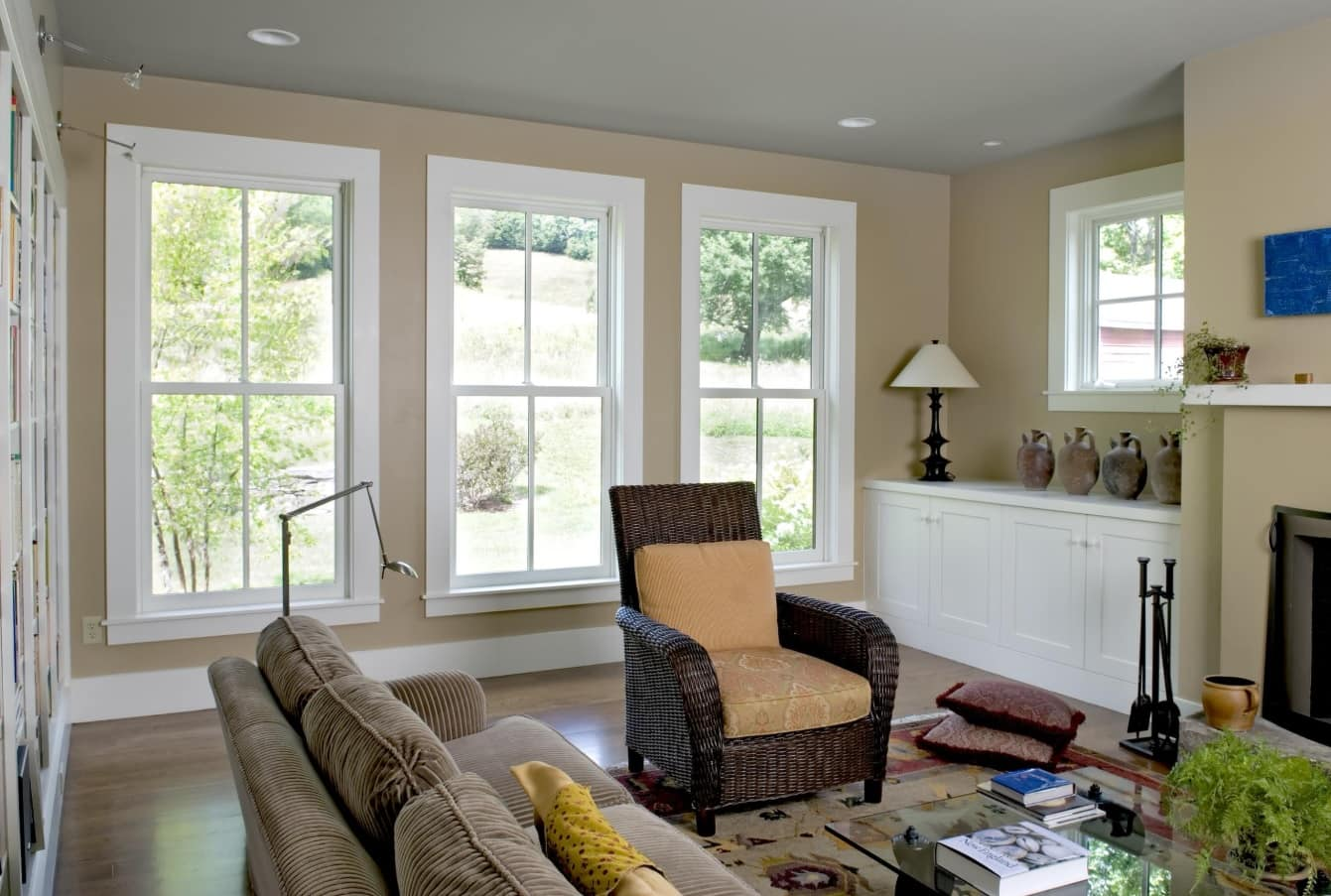 4 Helpful Space Saving Ideas for Any Home. Classic design of the house with large sash windows and casual furniture