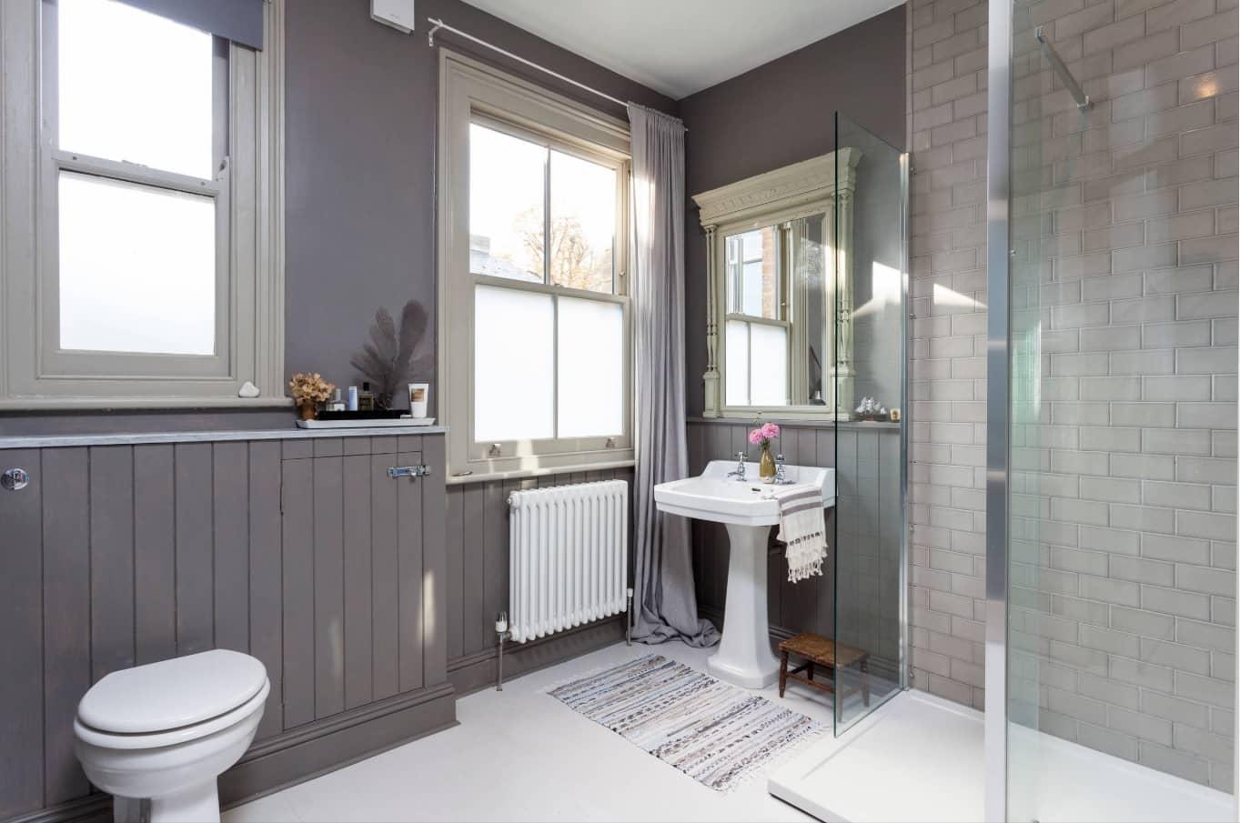 gray bathroom walls - 1000×667