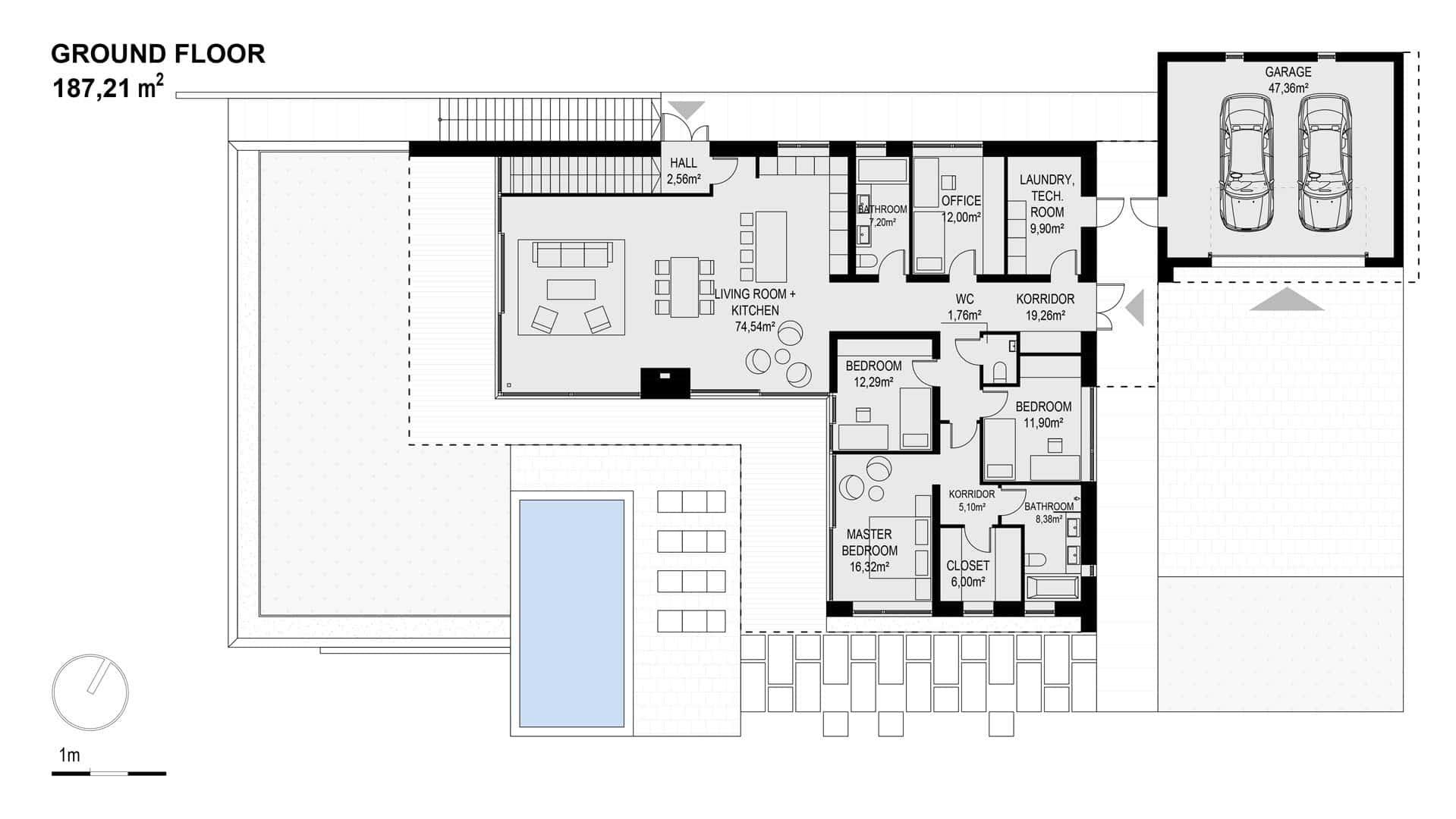 Ground floor of the Scandinavian villa
