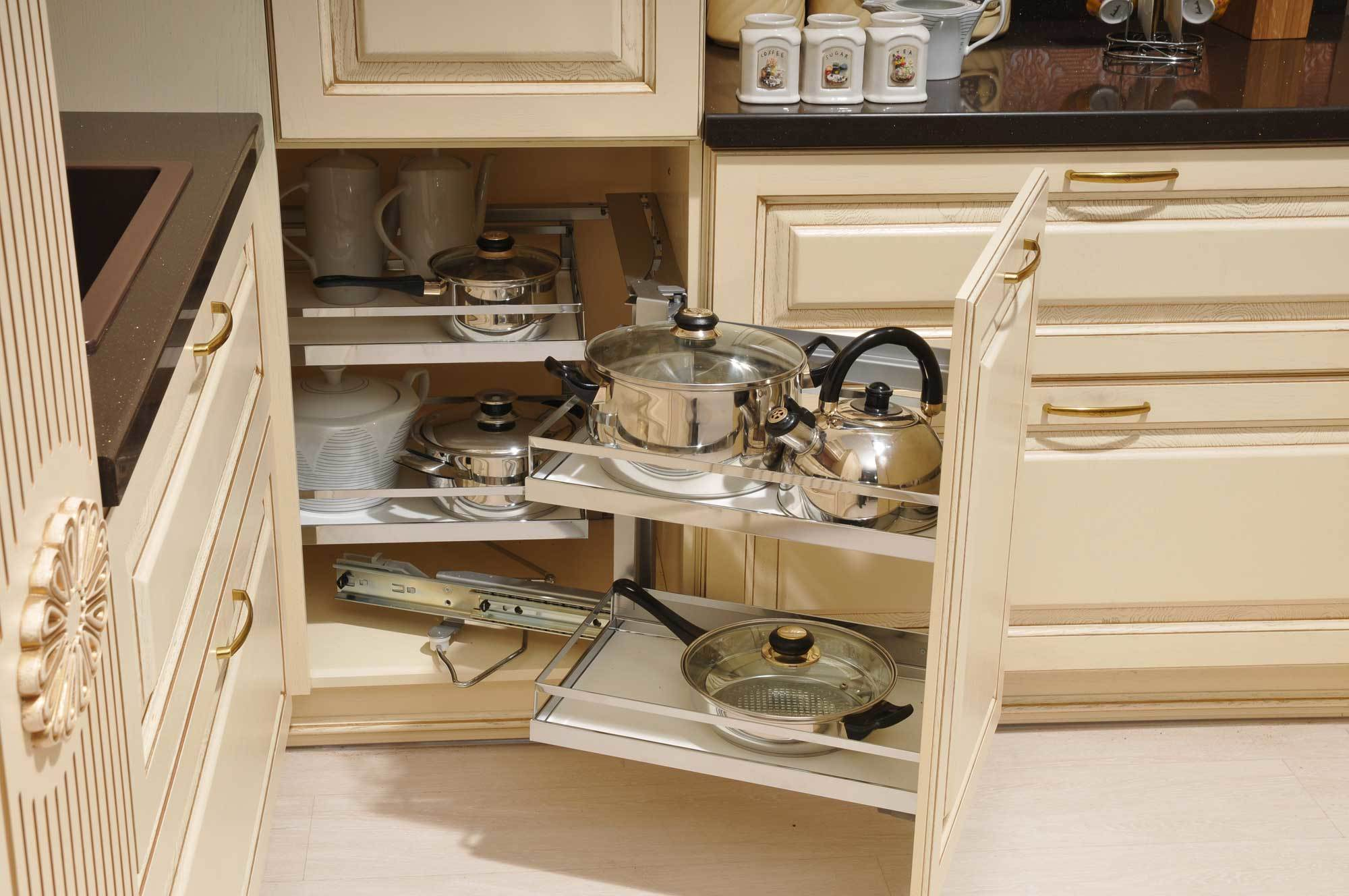 Organizing Kitchen Storage Systems and Pantry for Ultimate Comfort. Another example of successfully designed angular box