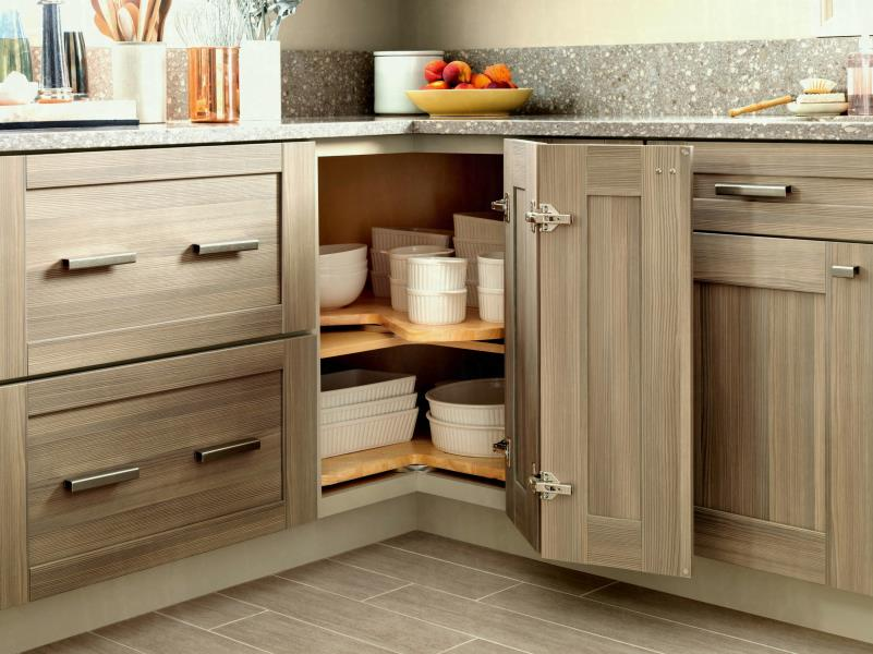 Organizing Kitchen Storage Systems and Pantry for Ultimate Comfort. Swing door for extra large compartment