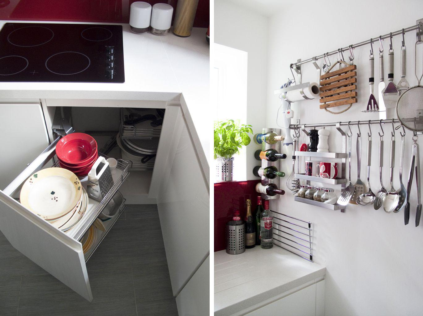 Organizing Kitchen Storage Systems and Pantry for Ultimate Comfort. Originally organized corner box