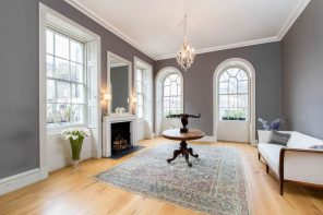 From Rubble to Riches: Your Guide to Renovating a Property in London. Gray walls and classic style for hall