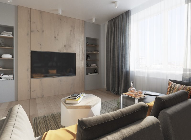 Masculine Interior Design Ideas that Give Kernel to Your Home. Large living room with accent wall decorated with panels