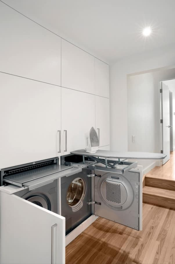 Enhance Home Interior with Stylish Appliances Without Breaking Bank. Silver facaded machines for smooth white kitchen