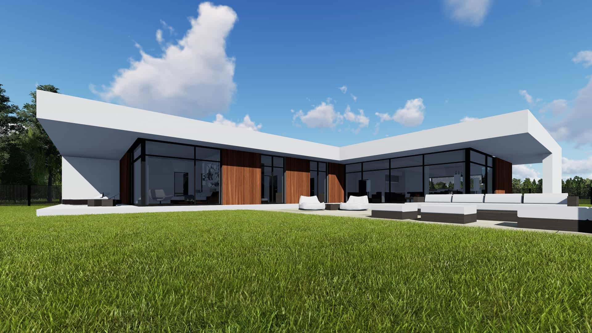 Modern Unexpected Concrete Flat Roof House Plans - Small ...