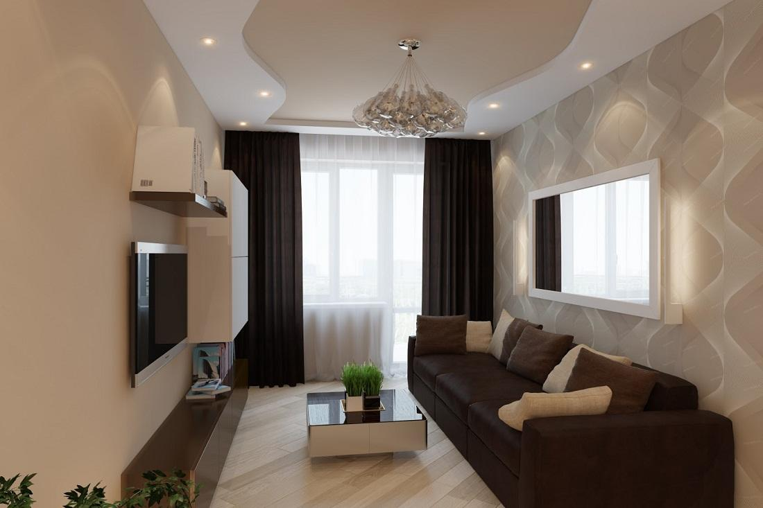 Exceptional Nobility and Elegance of Brown Living Room. Contemporary styled room in chocolate tones
