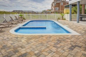 The Advantages of Using a 3D Pool Design Software. Beautiful open pool at the neat tiled backyard