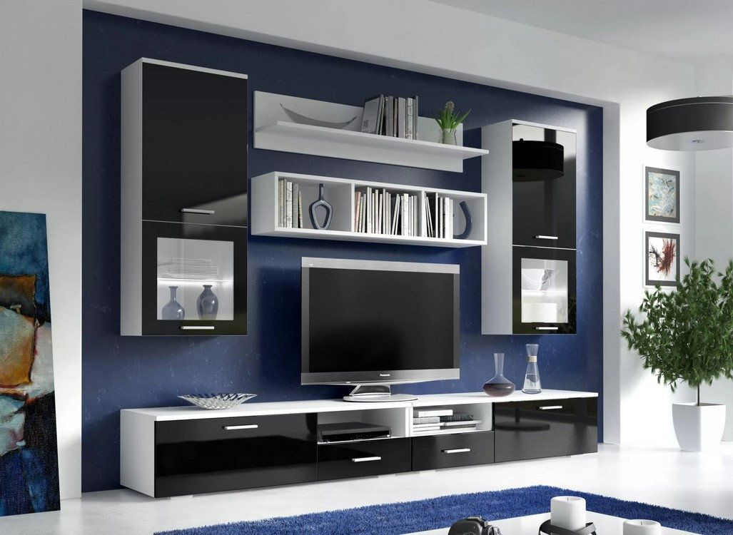 dark blue background for midern designed living room with playground