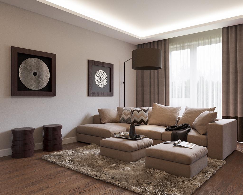 Nice mild brown designed liiving room