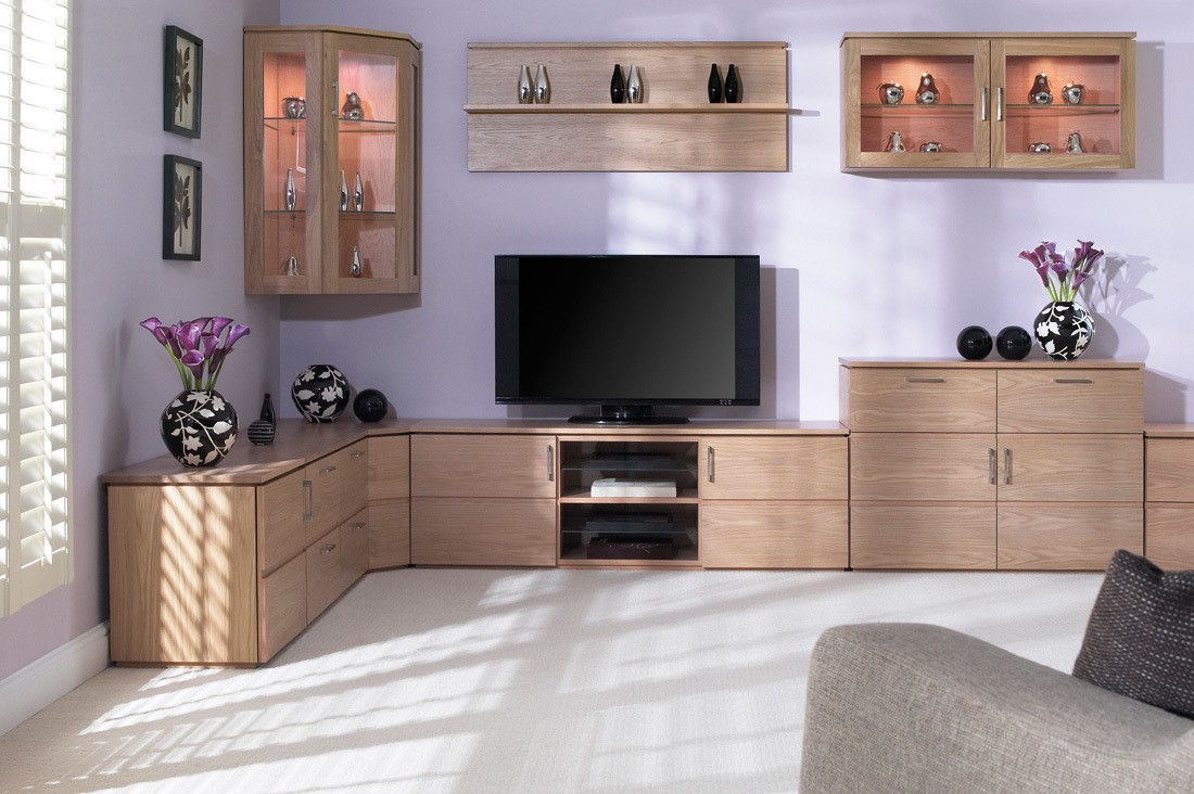 Light wooden cabinet furniture for contemporary styled room