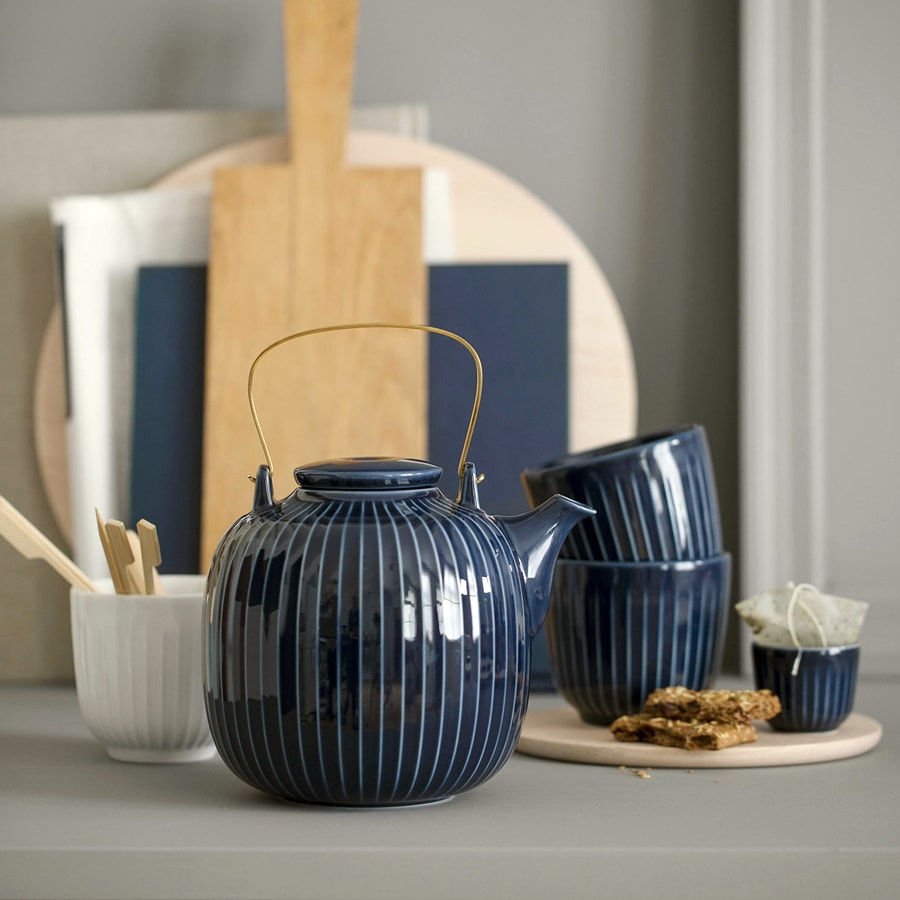 Ceramic glazed dishes to compliment hygge interior