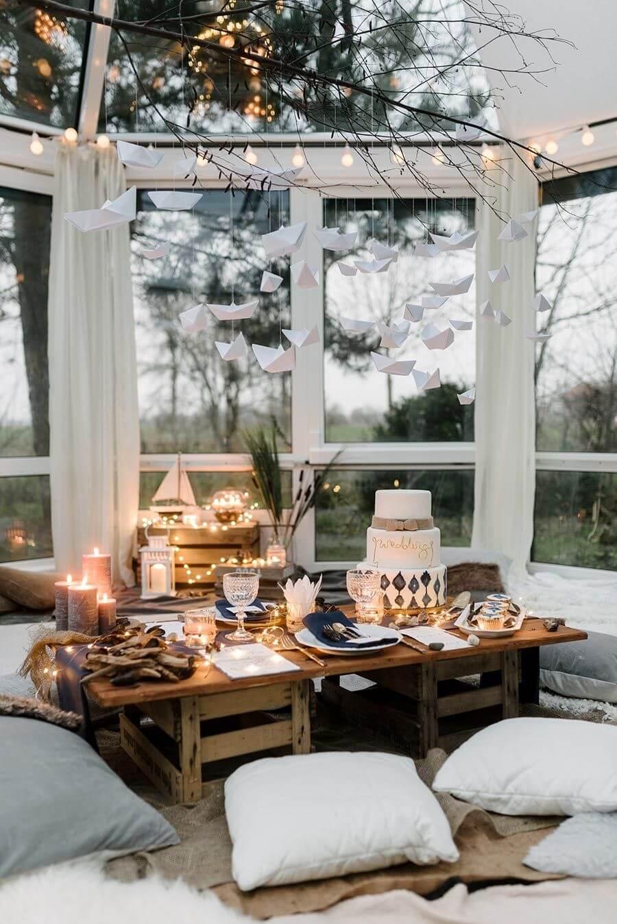 White classic designed sunroom