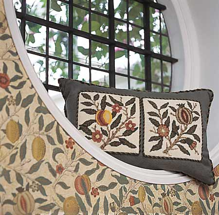 Arts and Crafts Interior Design: Origins and Perspectives of the Style. Armchair and the pillow both with floral pattern