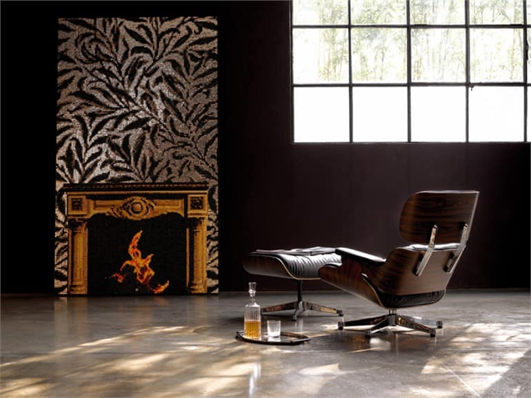 Arts and Crafts Interior Design: Origins and Perspectives of the Style. Fireplace painted on the dark wall