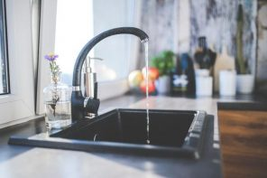 Soundproof Your Kitchen In 4 Easy Ways. Black bent tap
