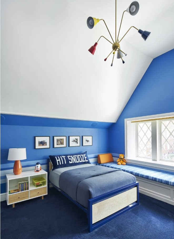 How To Create An Autism-Friendly Environment For Your Child. Calming blue in slope ceiling kids' room